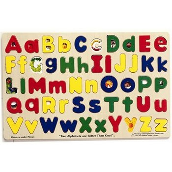 Melissa & Doug, Upper And Lower Case Alphabet Wooden Puzzle, Ages 4 to 6 Years Old, 26 Pieces