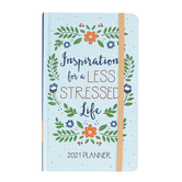 Inspiration For A Less Stressed Life 2021 Planner, by Barbour Books, Hardback, Mint Green, 240 Pages