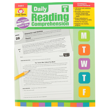 Evan-Moor, Daily Reading Comprehension Grade 4, Paperback, 208 Pages, Grade 6