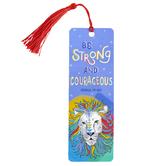 Salt & Light, Joshua 1:9 Be Strong & Courageous Tassel Bookmark, 2 x 6 inches