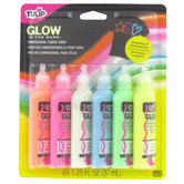 Tulip, Glow in the Dark 3D Paint, Assorted Colors, 6 count