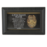 A Policeman's Prayer Tabletop Plaque, Framed Art, 6 x 4 Inches