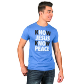 NOTW, Know Jesus Know Peace, Men's T-Shirt, Royal Blue, S-2XL