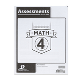 BJU Press, Math 4 Assessments, 4th Edition, Paperback, Grade 4