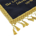 Holy Land Gifts, Names of God Banner, Satin, Blue & Gold, 19 x 12 inches