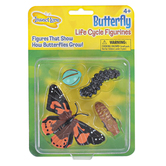 Insect Lore, Butterfly Life Cycle Figurines, Multi-Colored, Ages 4 Years and Older, 4 Pieces