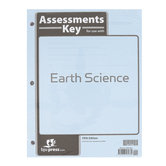 BJU Press, Earth Science Assessments Answer Key, 5th Edition, Grade 8