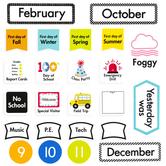 Creative Teaching Press, Core Decor Linear Calendar Bulletin Board Set, Multi-Colored, 184 Pieces, Grades PreK-K