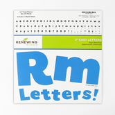 Renewing Minds, Blue Bulletin Board Letters, Upper and Lowercase, 4 Inches, Blue, 217 Pieces