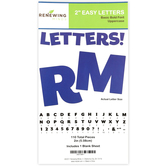 Renewing Minds, Dark Blue Bulletin Board Letters, Uppercase, 2 Inches, Dark Blue, 110 Pieces