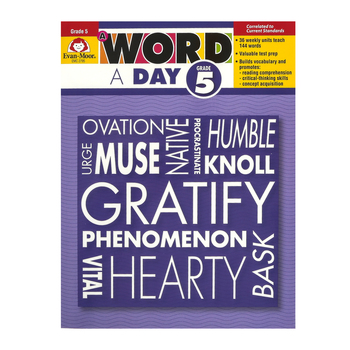 Evan-Moor, A Word a Day, Grade 5 Teacher's Edition, Paperback, 160 Pages, Grade 5