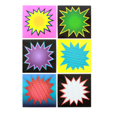 Superheroes Collection, Jumbo Starburst Cutouts, 10 Inches, 6 Assorted Multi-colored Designs, 12 Pieces