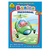 School Zone, Preschool Basics Workbook, 96 Pages, Ages 3-5