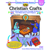 Carson-Dellosa, Easy Christian Crafts, Reproducible Paperback, 64 Pages, Grades PK-K
