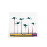 Scene-A-rama, Diorama Palm Trees, 3 to 5 inches, 6 Count