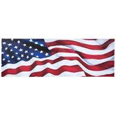 Waving American Flag Wall Decor, Canvas, Patriotic, 8 x 23 1/2 x 1 1/4 inches