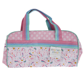 Stephen Joseph, Unicorn Duffle Bag, Polyester, Pink, 16 x 9 x 8 inches