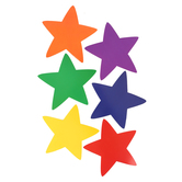 Renewing Minds, Stars Large Cutouts, Assorted Colors, 6 Inches, 36 Pieces