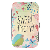 Brownlow Gifts, Sweet Friend Manicure Set, Stainless Steel, Floral, 5 x 3 x 1 inches, 5 Pieces