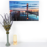 Lighthouse Lighted Canvas Wall Decor, 23 5/8 x 15 7/8 x 7/8 inches