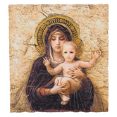 Sacred Traditions, The Madonna of the Lilies Plaque, Resin, 8 x 10 inches