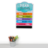Retro Chic Collection, Dear Students Wall Decor, 11 1/2 x 18 1/2 Inches