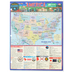 BarCharts, America The 50 States Laminated Study Guide, 8.5 x 11 Inches, 4 Pages, Grades 3 and up