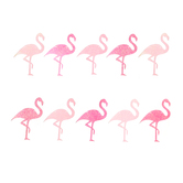 Luau Party Flamingos Banner, Pink and White Glitter, 8.50 Foot, 1 Each
