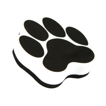 Paw Print Shaped Magnetic Whiteboard Eraser