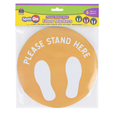 Teacher Created Resources, Spot On Floor Markers Please Stand Here, Assorted Colors, 6 Pieces, 7 Inches