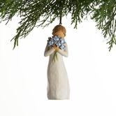 Willow Tree, Forget-Me-Not Ornament, by Susan Lordi, Resin, 4 1/4 inches