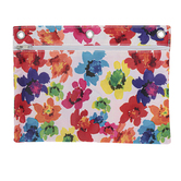 Inkology, Watercolor Style Floral Binder Pouch, Polyester, 9 1/2 x 7 inches