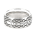 Spirit & Truth, Galatians 2:20, Crucified Silver Diamond Back Cross, Men's Ring, Stainless Steel, Size 10