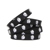 Teacher Created Resources, Paw Prints Wristbands Black with White, 7.25 Inches, Pack of 10