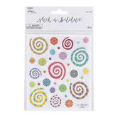 the Paper Studio, Stickabilities, Geo Swirls Glitter Stickers, 62 Stickers