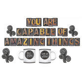 Schoolgirl Style, Industrial Cafe You Are Capable of Amazing Things Bulletin Board Set, 44 Pieces