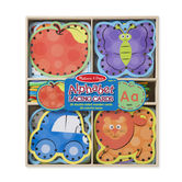 Melissa & Doug, Alphabet Lacing Cards, Ages 3 to 5 Years Old, 26 Wooden Cards and Laces