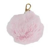 The Paper Studio, Agenda 52 Pink Fuzzy Pom Pom Keychain, 3 1/4 Inches