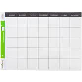 Renewing Minds, Customizable Calendar Chart, White Horizontal, 22 x 17 Inches, Black Header, 1 Each