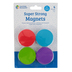Learning Resources, Super Strong Magnets, Bright Multi-Colored, 1.50 Inch Diameter, Set of 4