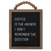 Coffee Is The Answer Framed Wall Decor, MDF, Light Brown and Black, 8 1/2 x 10 1/4 x 1 inches