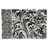 Michel Design Works, Honey Almond Black Florentine Rectangle Soap Dish, Glass, 5 3/4 x 3 3/4 x 1/2 inches