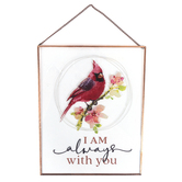 P. Graham Dunn, I Am Always With You Wall Plaque, Glass and Metal, Copper, 8 x 10 x 1/4 inches
