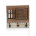 Wall Organizer with Hooks and Jar, Natural Color, 14 3/4 x 15 inches