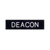Swanson, Deacon Pin Back Badge, Black & White, 1/2 x 2 1/4 inches