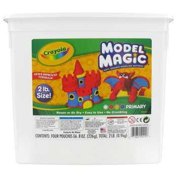 Crayola, Model Magic Modeling Compound, Primary Colors, 2 Pound Tub