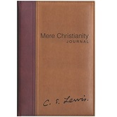 Mere Christianity Journal, by C. S. Lewis, Imitation Leather, Brown