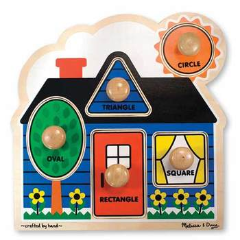 Melissa & Doug, First Shapes Jumbo Knob Wooden Puzzle, Ages 12 Months and Older, 5 Pieces
