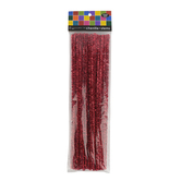 Tree House Studio, Tinsel Stem 12 x 1/4 Inches, Red, 50 Count