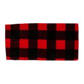 Buffalo Check Bandana, Cotton, Red/Black, 22 x 22 Inches
